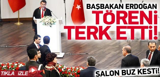 Erdoğan, Danıştay törenini terk etti İZLE