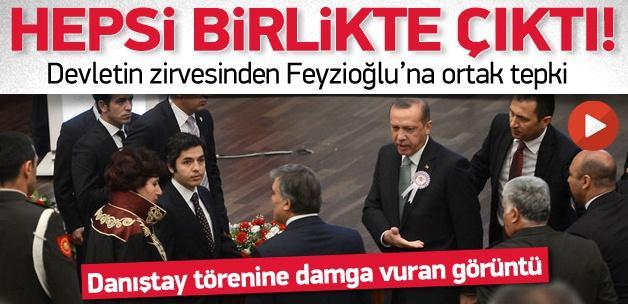 Erdoğan'la birlikte Gül ve Özel de salonu terk etti